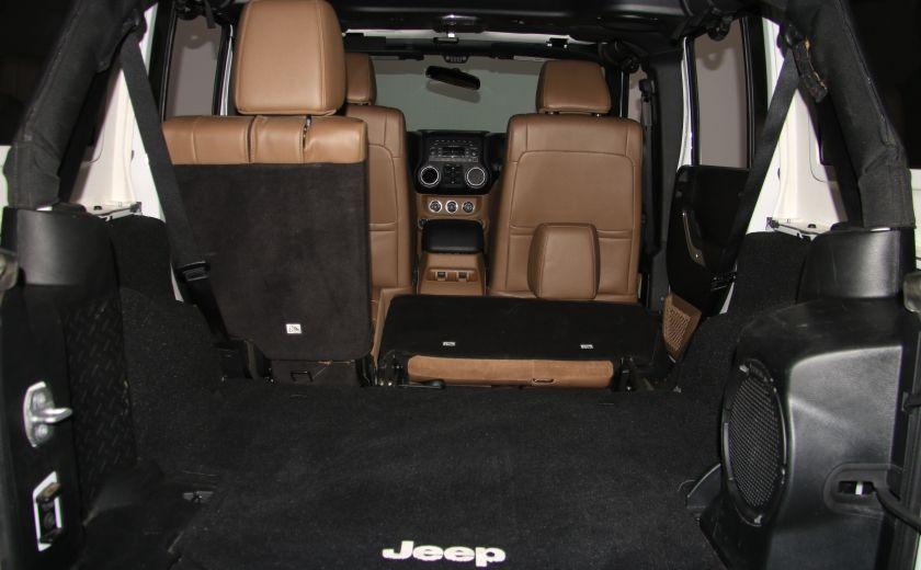 2012 Jeep Wrangler Sahara 4WD AUTO A/C CUIR 2TOITS MAGS #30