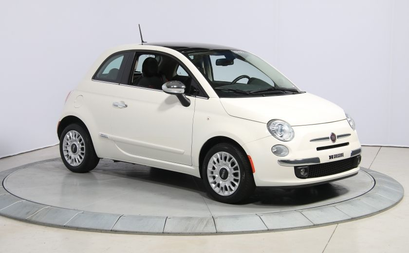 2013 Fiat 500 Lounge A/C CUIR TOIT MAGS BLUETOOTH #0