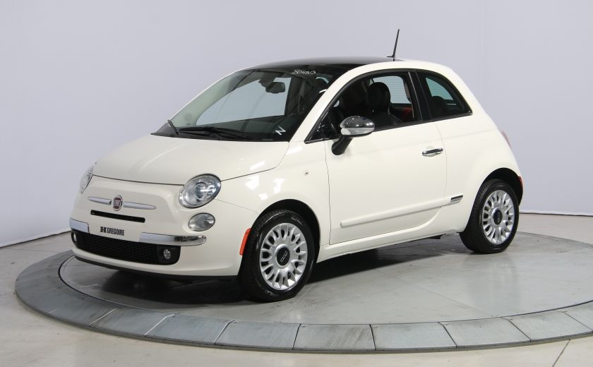 2013 Fiat 500 Lounge A/C CUIR TOIT MAGS BLUETOOTH #2
