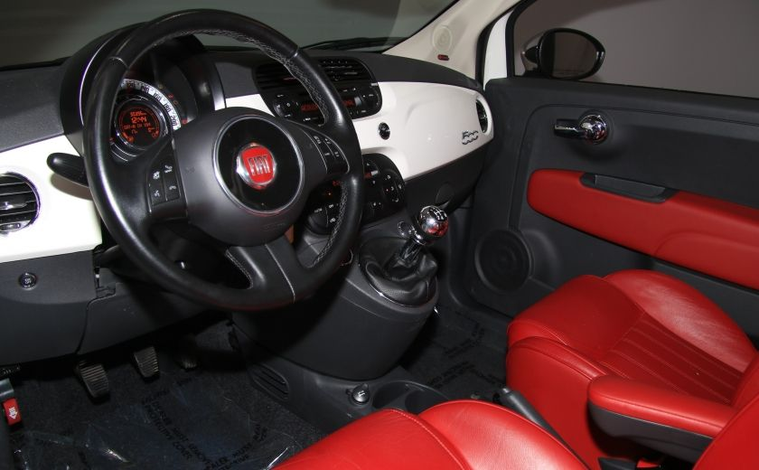 2013 Fiat 500 Lounge A/C CUIR TOIT MAGS BLUETOOTH #8