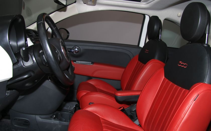 2013 Fiat 500 Lounge A/C CUIR TOIT MAGS BLUETOOTH #9
