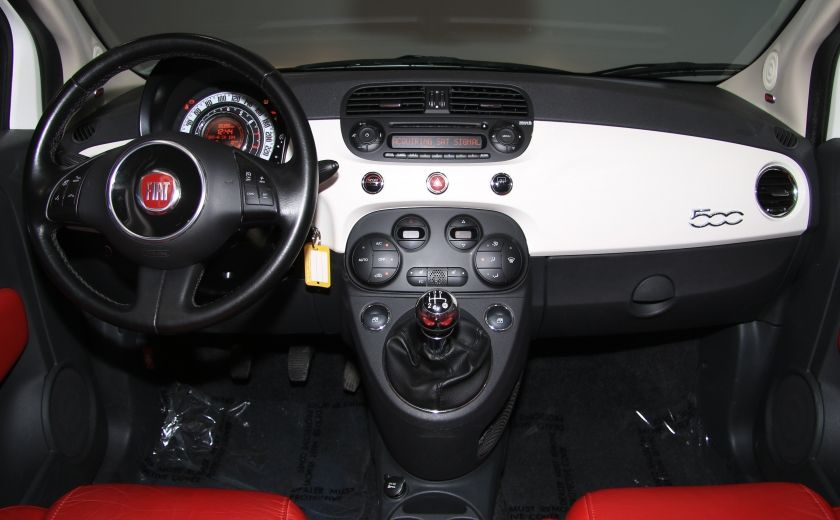 2013 Fiat 500 Lounge A/C CUIR TOIT MAGS BLUETOOTH #12