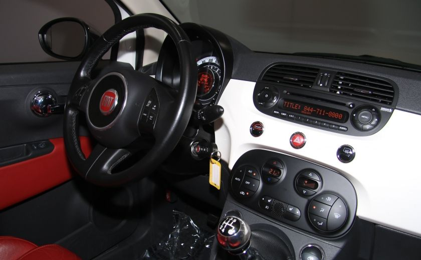 2013 Fiat 500 Lounge A/C CUIR TOIT MAGS BLUETOOTH #23