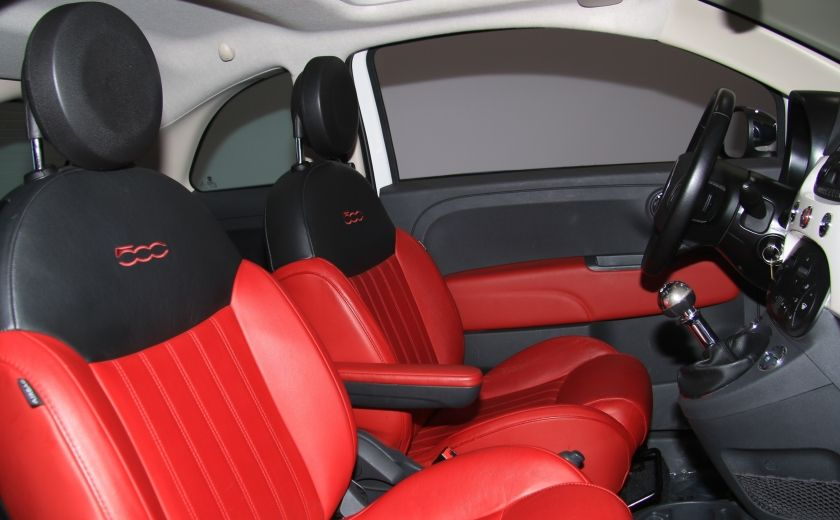 2013 Fiat 500 Lounge A/C CUIR TOIT MAGS BLUETOOTH #24