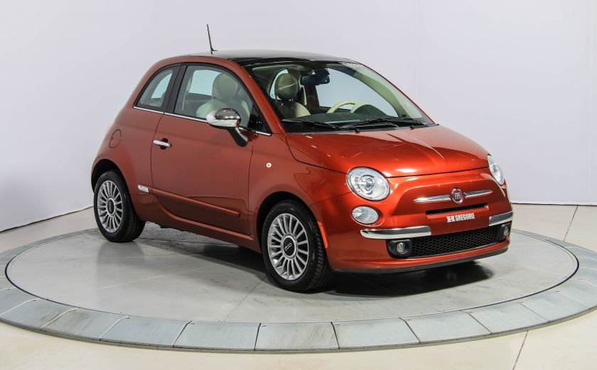 2012 Fiat 500 Lounge AUTO A/C CUIR TOIT MAGS #0