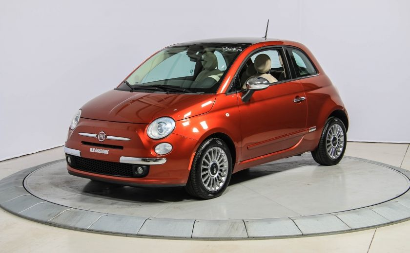2012 Fiat 500 Lounge AUTO A/C CUIR TOIT MAGS #2