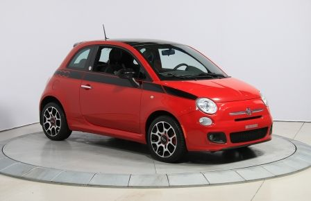2012 Fiat 500 Sport A/C TOIT MAGS BLUETOOTH #0
