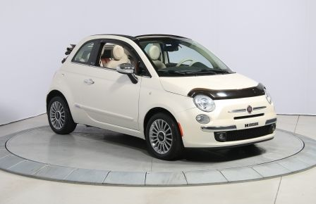 2012 Fiat 500 Lounge AUTO CUIR DÉCAPOTABLE MAGS BLUETOOTH in Abitibi