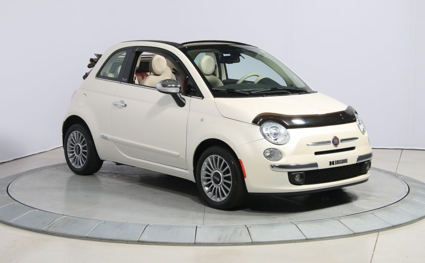 2012 Fiat 500 Lounge AUTO CUIR DÉCAPOTABLE MAGS BLUETOOTH #0