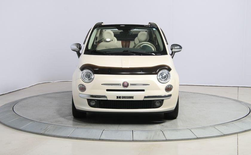 2012 Fiat 500 Lounge AUTO CUIR DÉCAPOTABLE MAGS BLUETOOTH #1