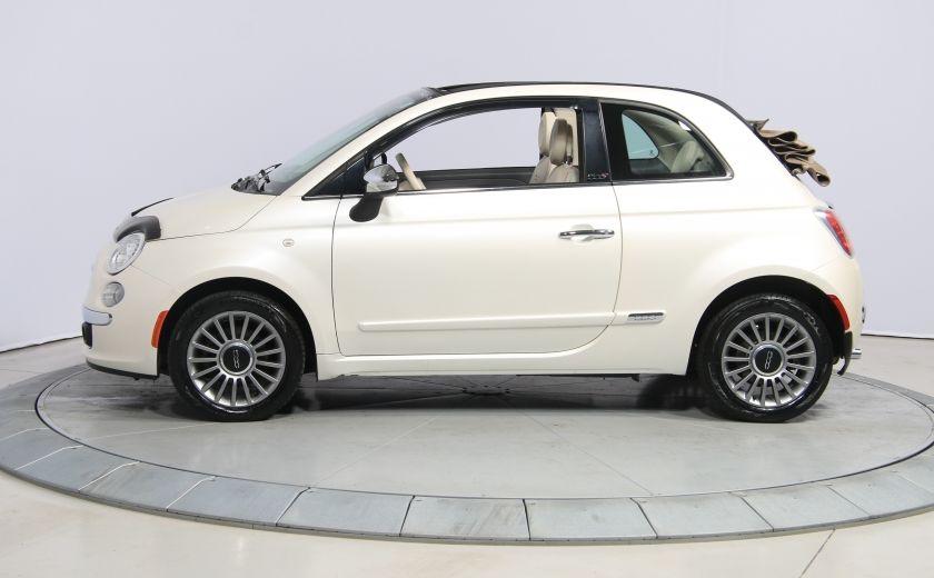 2012 Fiat 500 Lounge AUTO CUIR DÉCAPOTABLE MAGS BLUETOOTH #3