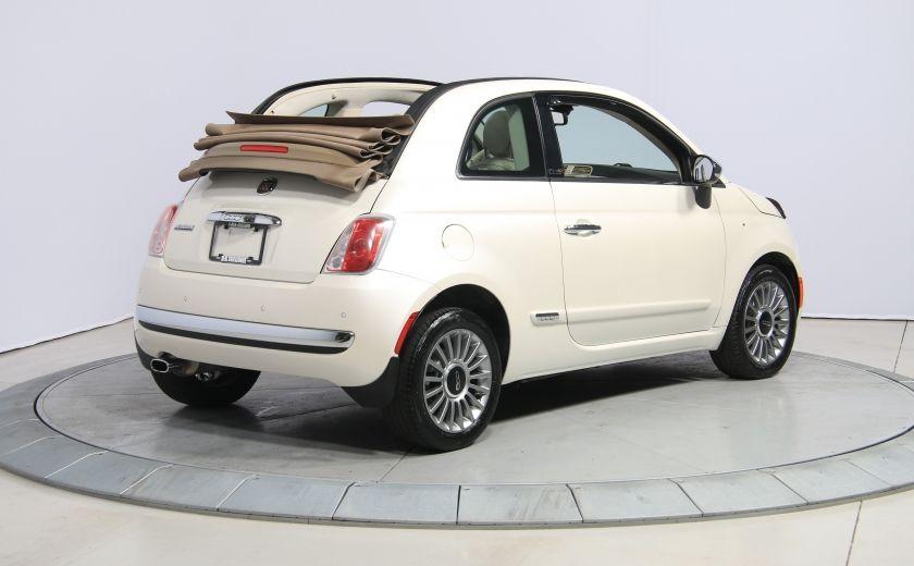 2012 Fiat 500 Lounge AUTO CUIR DÉCAPOTABLE MAGS BLUETOOTH #6