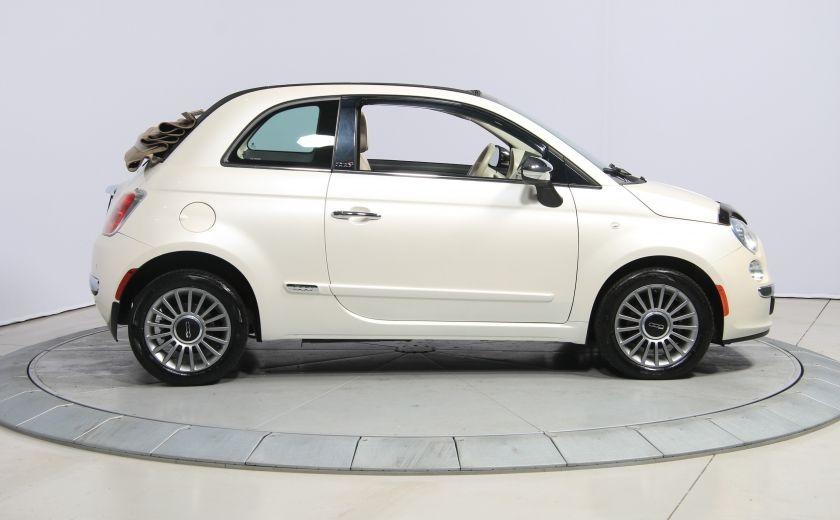 2012 Fiat 500 Lounge AUTO CUIR DÉCAPOTABLE MAGS BLUETOOTH #7