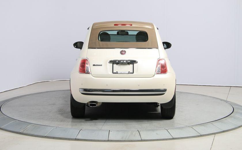 2012 Fiat 500 Lounge AUTO CUIR DÉCAPOTABLE MAGS BLUETOOTH #9