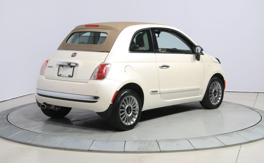 2012 Fiat 500 Lounge AUTO CUIR DÉCAPOTABLE MAGS BLUETOOTH #10