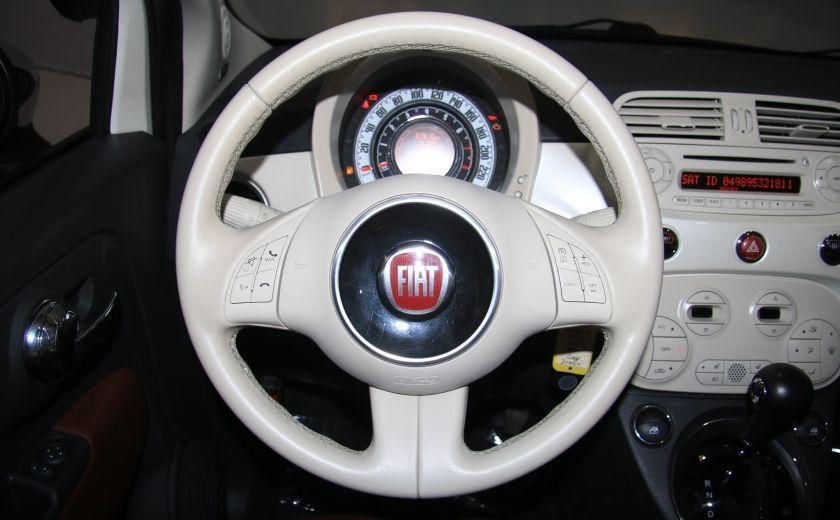 2012 Fiat 500 Lounge AUTO CUIR DÉCAPOTABLE MAGS BLUETOOTH #16