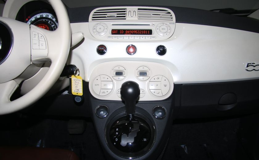 2012 Fiat 500 Lounge AUTO CUIR DÉCAPOTABLE MAGS BLUETOOTH #17
