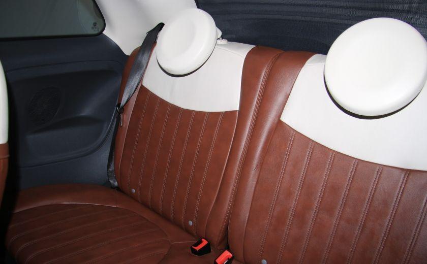 2012 Fiat 500 Lounge AUTO CUIR DÉCAPOTABLE MAGS BLUETOOTH #22