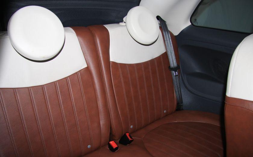 2012 Fiat 500 Lounge AUTO CUIR DÉCAPOTABLE MAGS BLUETOOTH #23