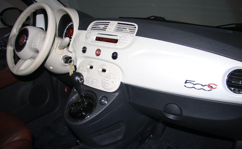 2012 Fiat 500 Lounge AUTO CUIR DÉCAPOTABLE MAGS BLUETOOTH #24