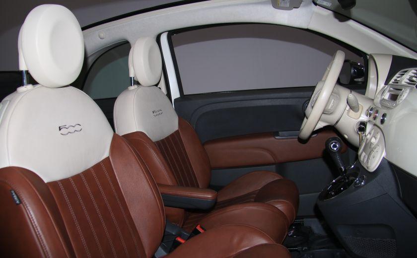 2012 Fiat 500 Lounge AUTO CUIR DÉCAPOTABLE MAGS BLUETOOTH #26