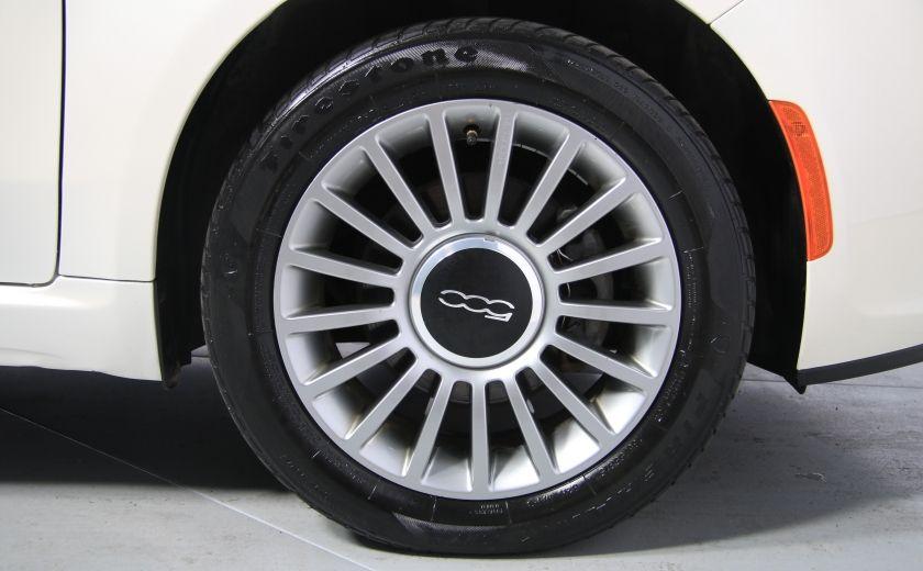 2012 Fiat 500 Lounge AUTO CUIR DÉCAPOTABLE MAGS BLUETOOTH #32