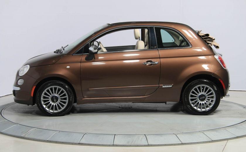 2012 Fiat 500 Lounge AUTO CUIR DÉCAPOTABLE MAGS BLUETOOTH #2
