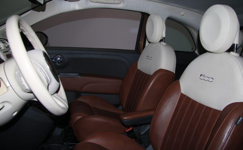2012 Fiat 500 Lounge AUTO CUIR DÉCAPOTABLE MAGS BLUETOOTH #11