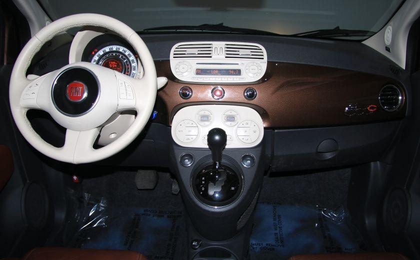 2012 Fiat 500 Lounge AUTO CUIR DÉCAPOTABLE MAGS BLUETOOTH #13