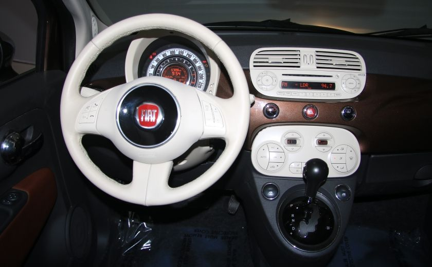 2012 Fiat 500 Lounge AUTO CUIR DÉCAPOTABLE MAGS BLUETOOTH #14