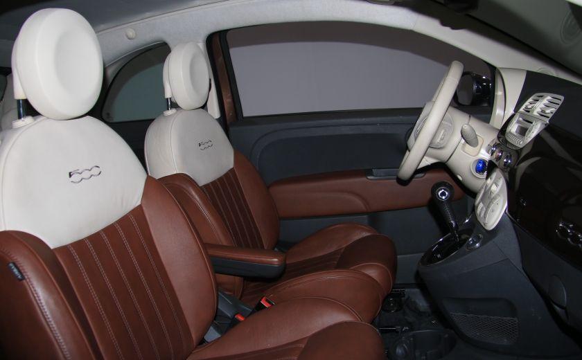 2012 Fiat 500 Lounge AUTO CUIR DÉCAPOTABLE MAGS BLUETOOTH #25