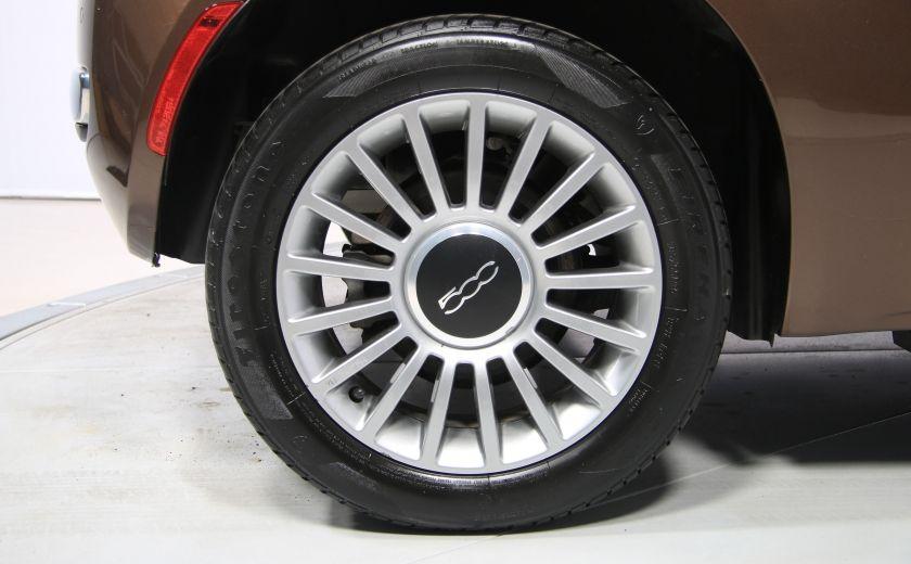 2012 Fiat 500 Lounge AUTO CUIR DÉCAPOTABLE MAGS BLUETOOTH #30