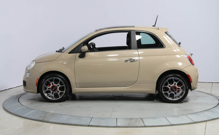 2012 Fiat 500 Sport AUTO A/C CUIR TOIT MAGS BLUETOOTH #0