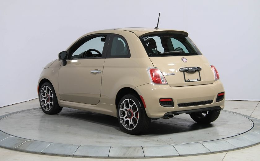 2012 Fiat 500 Sport AUTO A/C CUIR TOIT MAGS BLUETOOTH #1