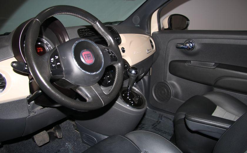 2012 Fiat 500 Sport AUTO A/C CUIR TOIT MAGS BLUETOOTH #3