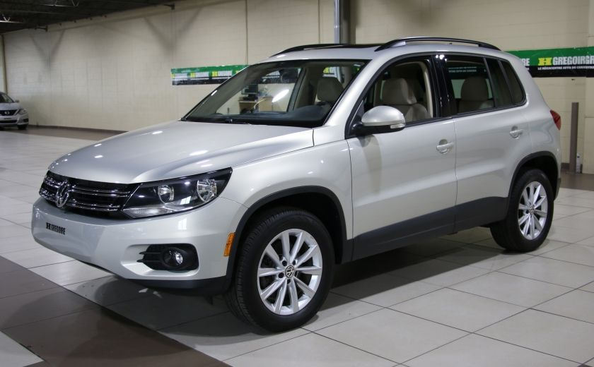 2014 Volkswagen Tiguan Comfortline AWD A/C CUIR TOIT PANO MAGS #2