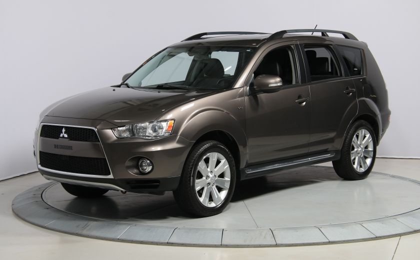 2012 Mitsubishi Outlander GT 4X4 AUTO CUIR TOIT MAGS BLUETOOTH 7PASSAGERS #2