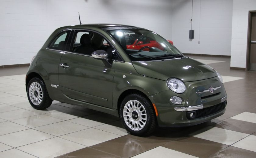 2012 Fiat 500 Lounge AUTO A/C CUIR TOIT MAGS BLUETOOTH #0