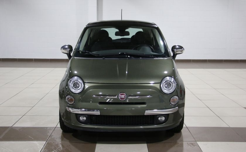 2012 Fiat 500 Lounge AUTO A/C CUIR TOIT MAGS BLUETOOTH #1