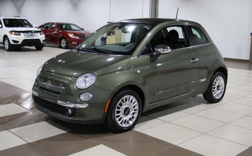 2012 Fiat 500 Lounge AUTO A/C CUIR TOIT MAGS BLUETOOTH #2