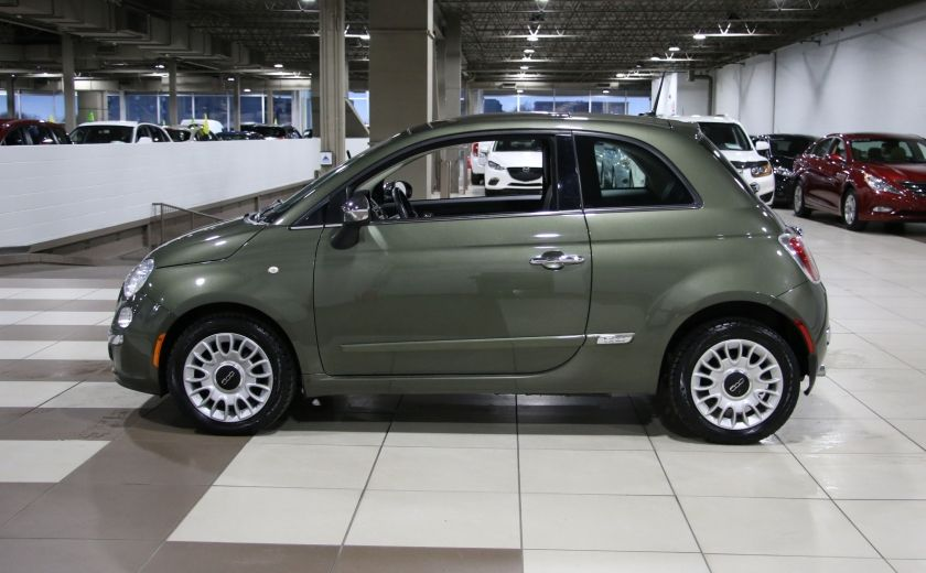 2012 Fiat 500 Lounge AUTO A/C CUIR TOIT MAGS BLUETOOTH #3