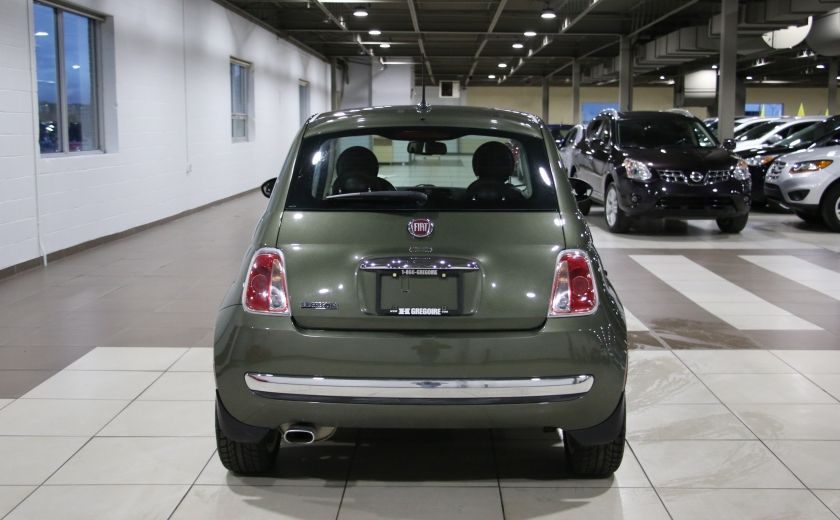 2012 Fiat 500 Lounge AUTO A/C CUIR TOIT MAGS BLUETOOTH #5