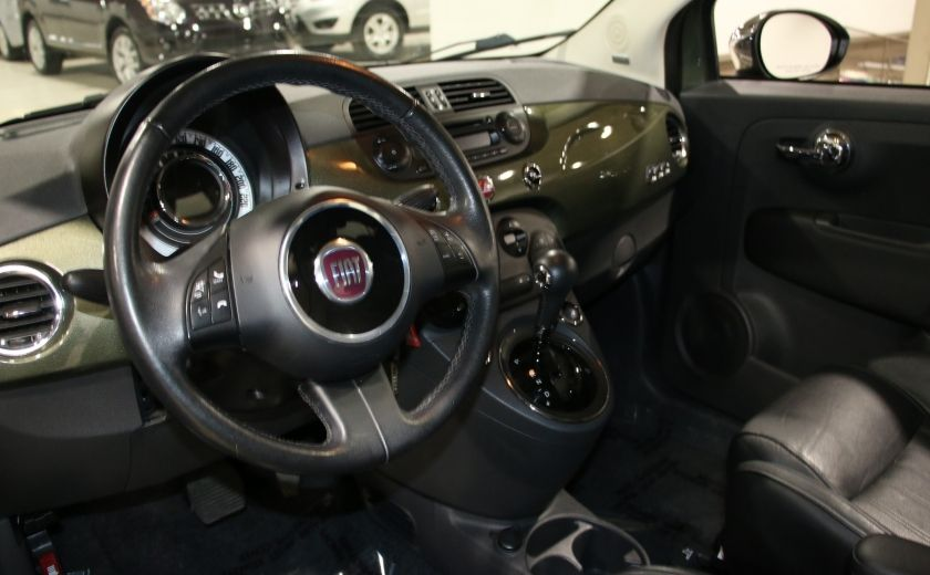 2012 Fiat 500 Lounge AUTO A/C CUIR TOIT MAGS BLUETOOTH #8