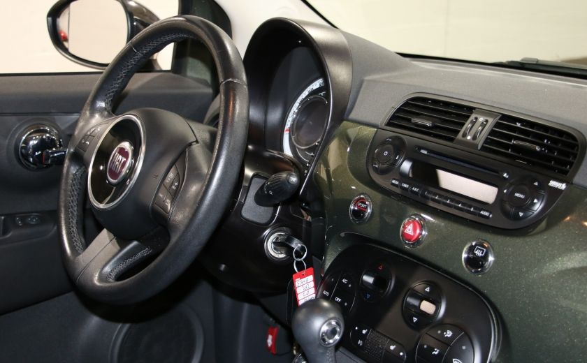 2012 Fiat 500 Lounge AUTO A/C CUIR TOIT MAGS BLUETOOTH #18