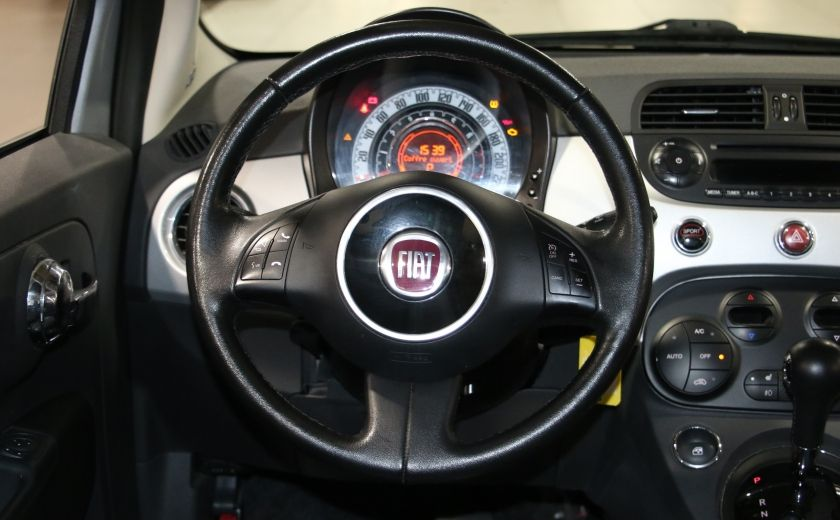 2012 Fiat 500 Lounge AUTO A/C CUIR TOIT MAGS #12