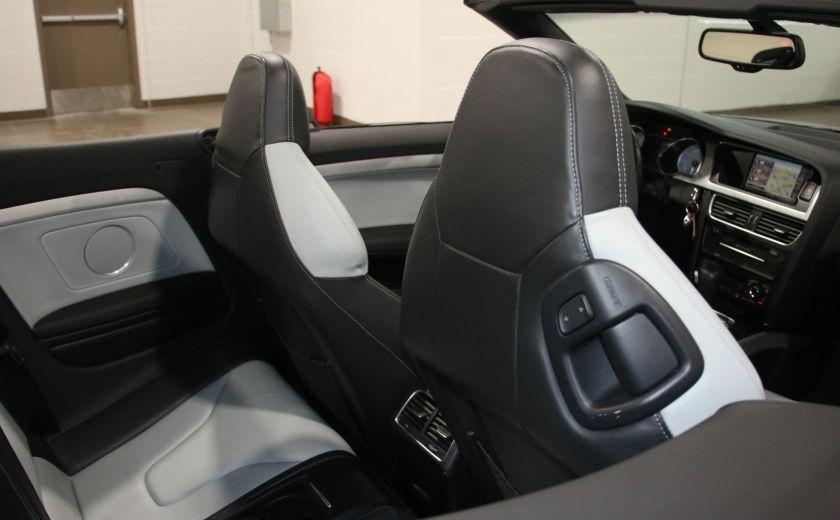 2011 Audi S5 Premium AWD AUTO A/C CUIR CONVERTIBLE MAGS NAV #28