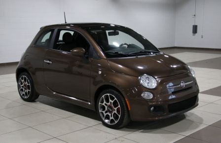2012 Fiat 500 Sport A/C GR ELECT TOIT MAGS BLUETOOTH #0