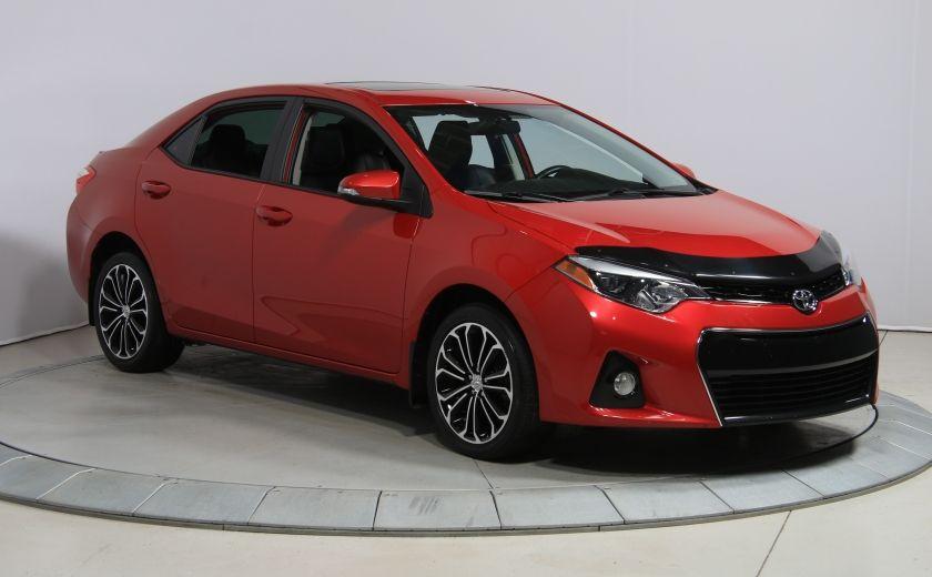 2014 Toyota Corolla S CVT CUIR-TISSUS TOIT BLUETOOTH HID #33