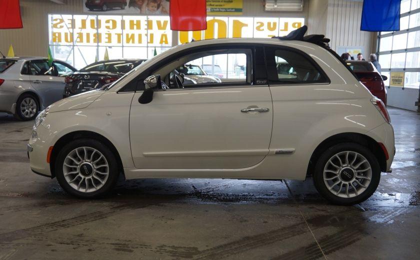 2014 Fiat 500c Lounge Cabriolet (sonar-cuir) #3