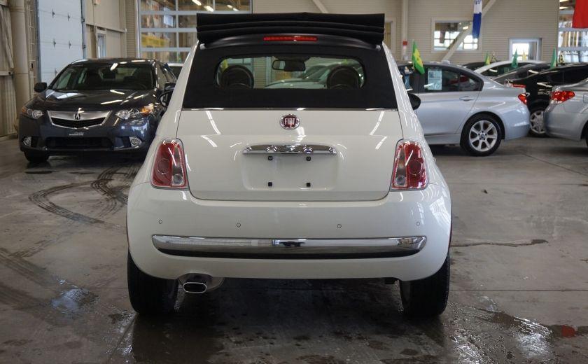 2014 Fiat 500c Lounge Cabriolet (sonar-cuir) #5